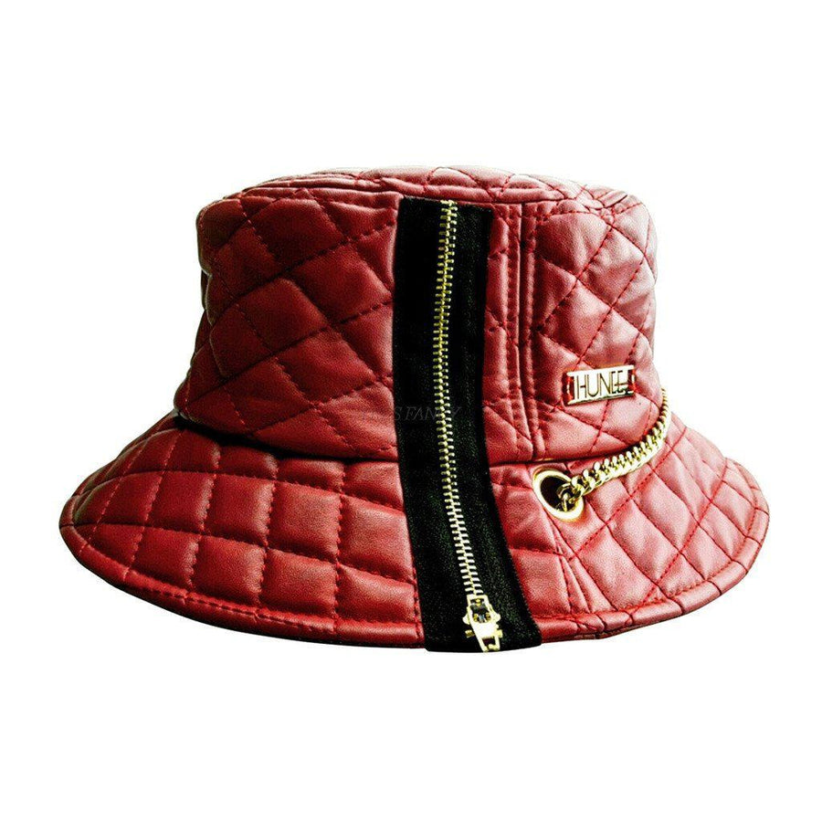Red Quilted Bucket Hat, Men - Accessories - Hats, Eye Hunee, Très Fancy, , , , , f388d662#1, [fashion_accessories_online_shopping_canada]