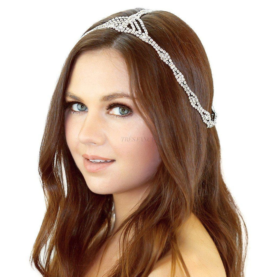 Kristin Perry-Rhinestone Chain Headpiece-Women - Accessories - Hair Accessories-Très Fancy - Duty Free Canada, Worldwide shipping
