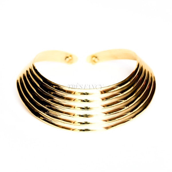Ribbed collar necklace-Women - Jewelry - Necklaces-BISJOUX-TRESFANCY