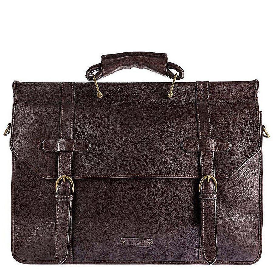 Roma Leather Briefcase, Men - Bags - Briefcases, Hidesign, TRESFANCY, , , , , RB-001-BR, [fashion_accessories_online_shopping_canada]