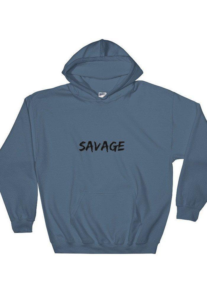 Savage Hooded Sweatshirt-Unisex - Apparel - Activewear - Tops-Madison Clothing-TRESFANCY
