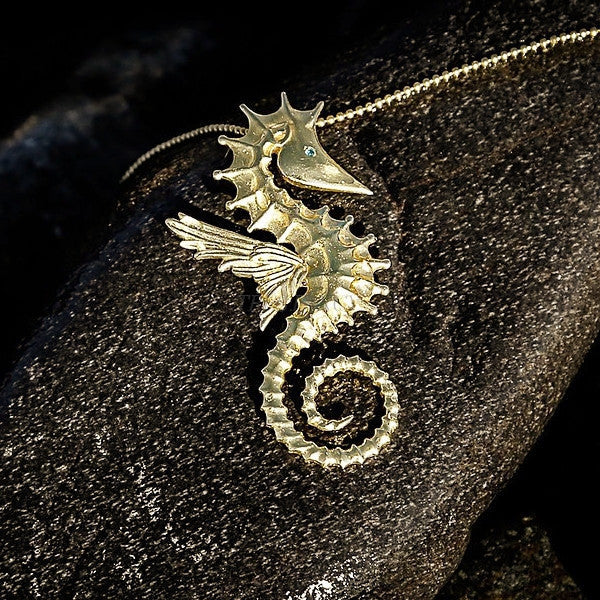 Sea horse pendant necklace-Women - Jewelry - Necklaces-BISJOUX-TRESFANCY