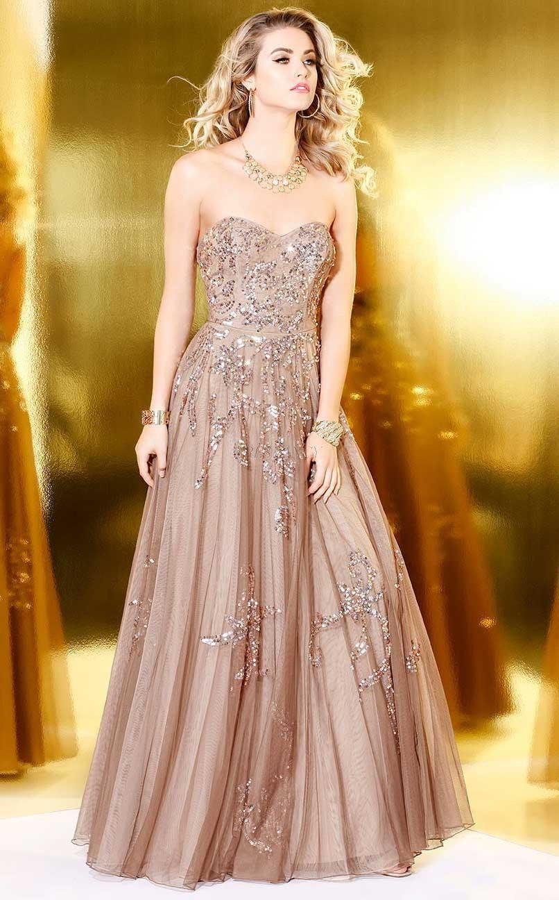 Shail K-Shail K Blush Diaphanous strapless evening gown-Women - Apparel - Prom Dresses - Cocktail & Party-Très Fancy - Duty Free Canada, Worldwide shipping