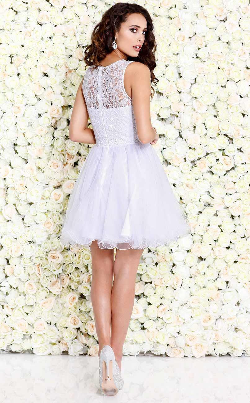 Shail K-Shail K Prom 4045, White-Women - Apparel - Prom Dresses - Cocktail & Party-Très Fancy - Duty Free Canada, Worldwide shipping