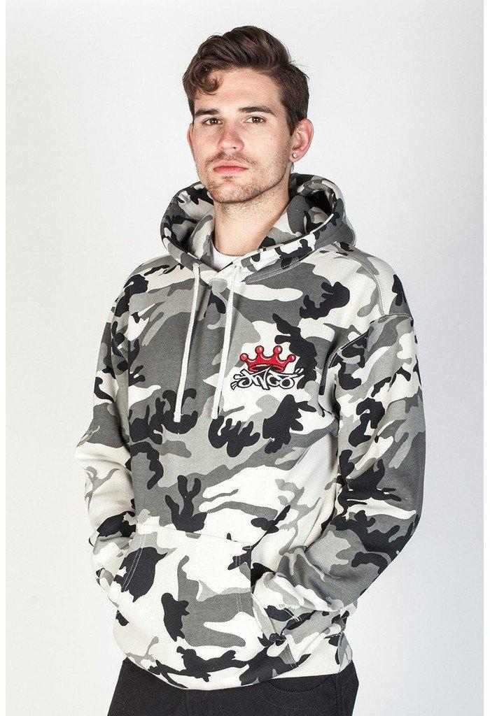 Snow Camo Hoodie-Men - Apparel - Sweaters - Pull Over-jnco-jeans-TRESFANCY