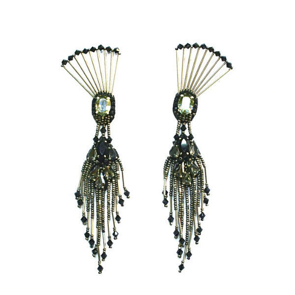 THE DANCING PEACOCK EARRINGS., Women - Jewelry - Earrings, BEGADA, Très Fancy, , , , , AGM_3500-Antique_Silver, [fashion_accessories_online_shopping_canada]