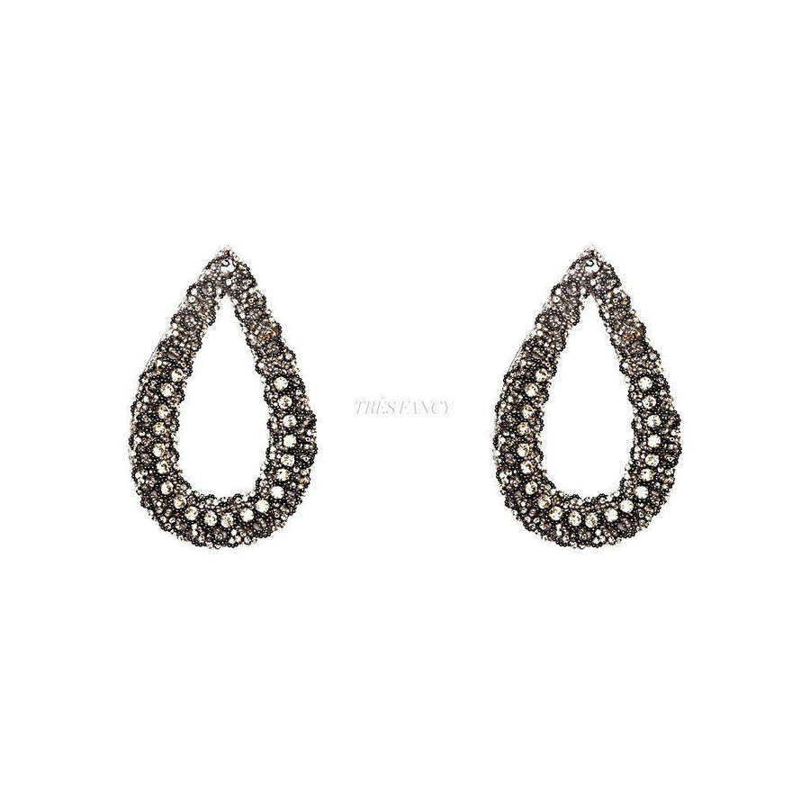 THE DIVA STATEMENT EARRINGS., Women - Jewelry - Earrings, BEGADA, Très Fancy, , , , , AGM_2700-Gunmetal, [fashion_accessories_online_shopping_canada]