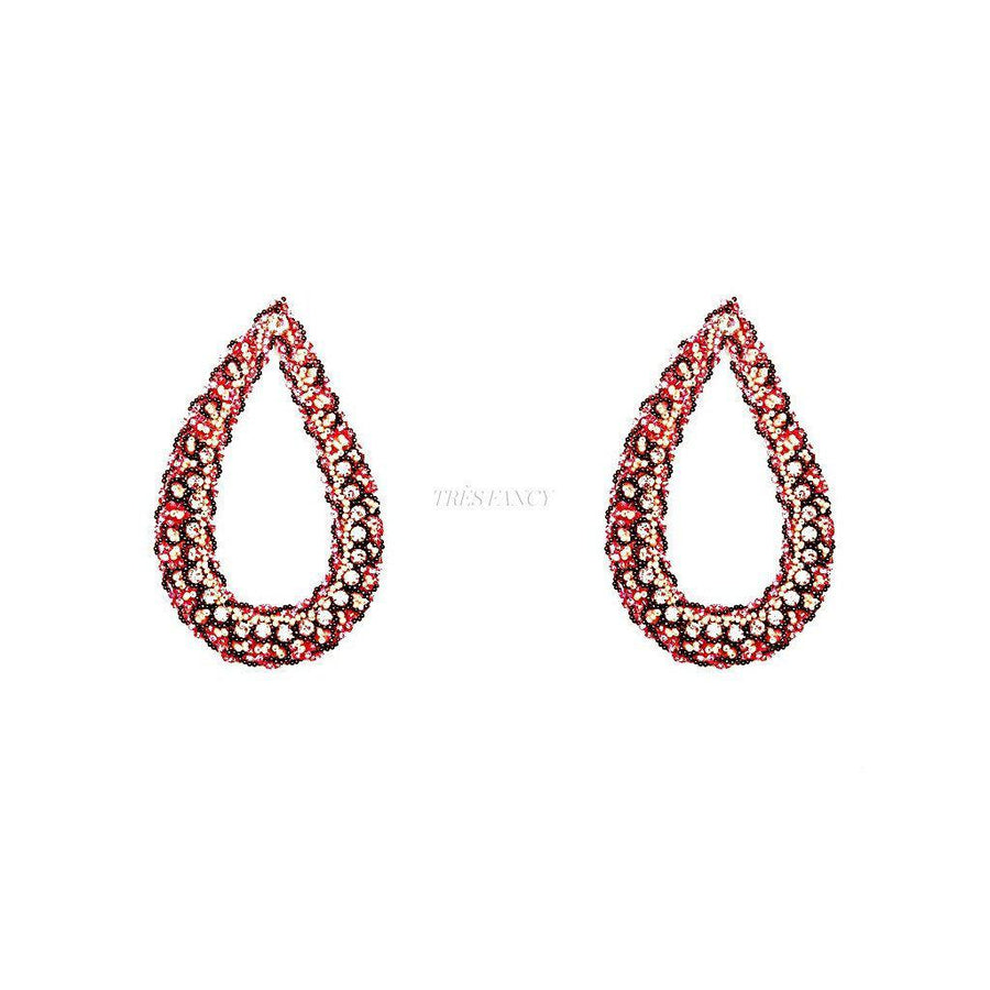THE DIVA STATEMENT EARRINGS., Women - Jewelry - Earrings, BEGADA, Très Fancy, , , , , APIN_2700-Vintage_Pink, [fashion_accessories_online_shopping_canada]
