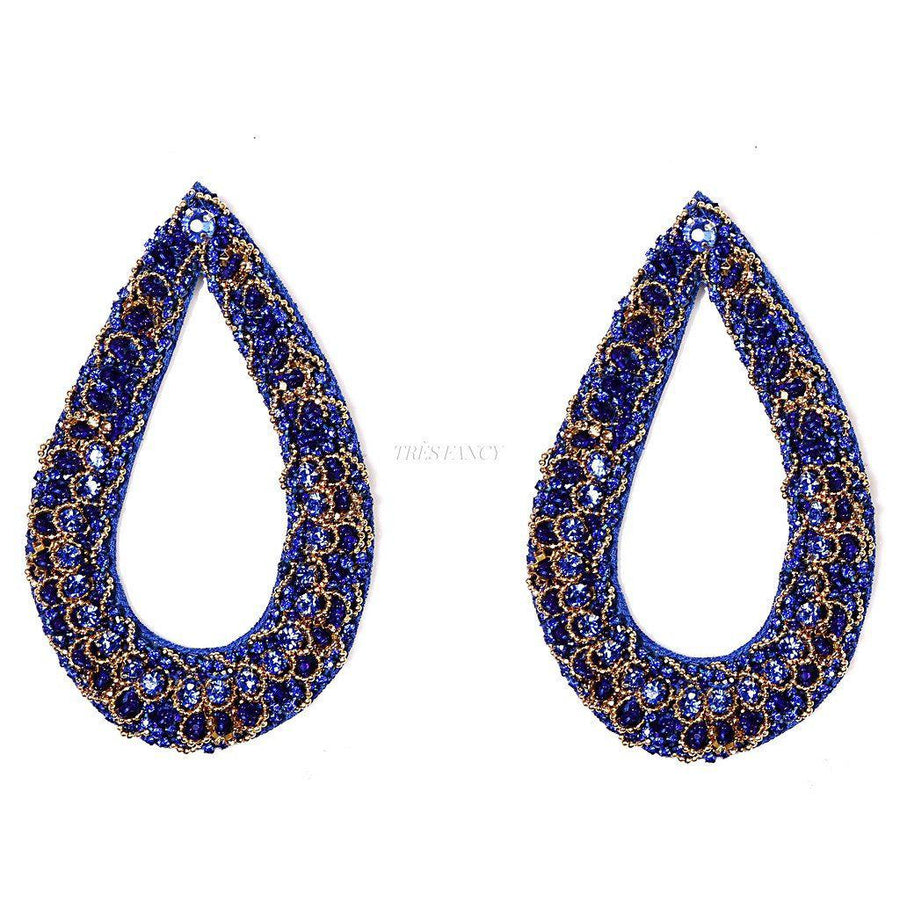 THE DIVA STATEMENT EARRINGS., Women - Jewelry - Earrings, BEGADA, Très Fancy, Sapphire, , , , A 2700, [fashion_accessories_online_shopping_canada]