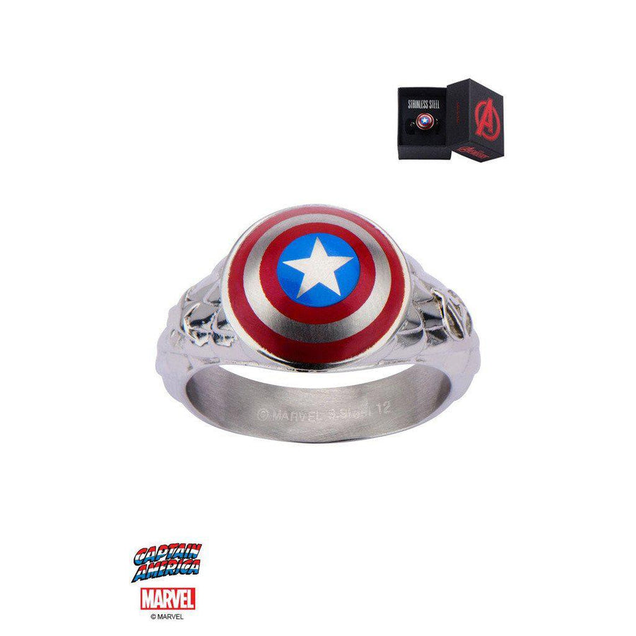 Mister LLC-The Marvel Captain America Ring - Chrome-Men - Jewelry - Rings-Très Fancy - Duty Free Canada, Worldwide shipping