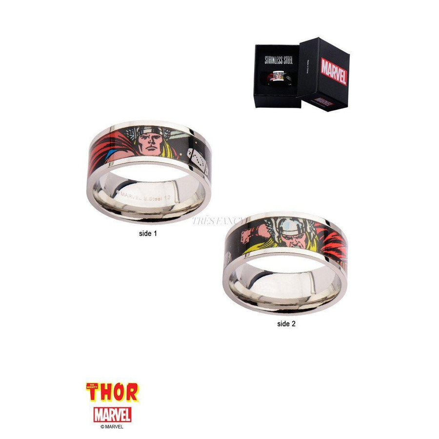 Mister LLC-The Marvel Thor Ring - Chrome-Men - Jewelry - Rings-Très Fancy - Duty Free Canada, Worldwide shipping