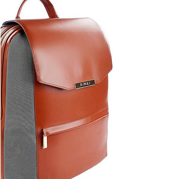 P.MAI-Valletta Backpack & Wristlet - Cognac-Women - Bags - Backpacks-Très Fancy - Duty Free Canada, Worldwide shipping
