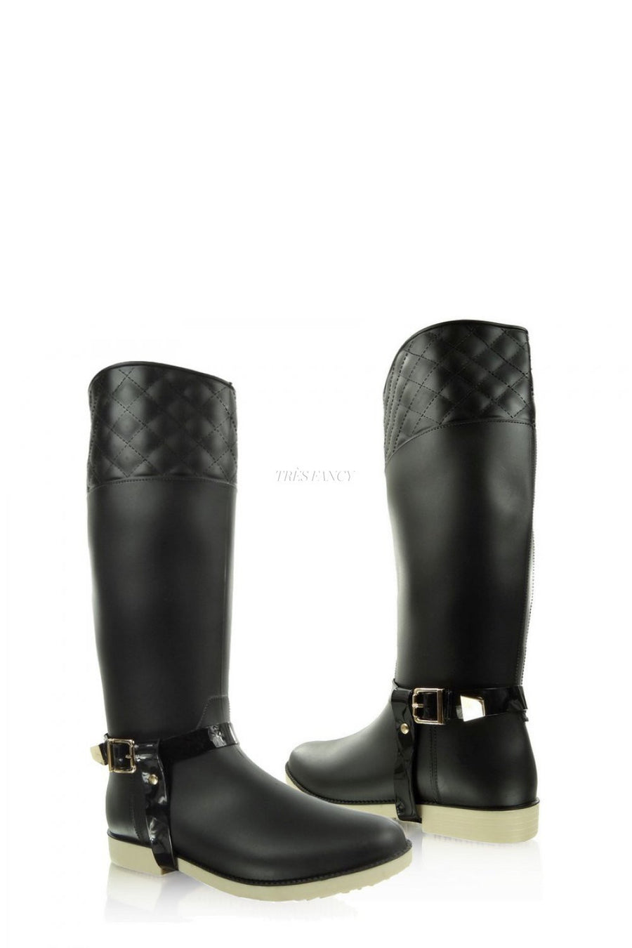 Wellingtons 35483 Heppin-Over the Knee High Boots, Thigh High Boots-Heppin-black-37-Très Fancy