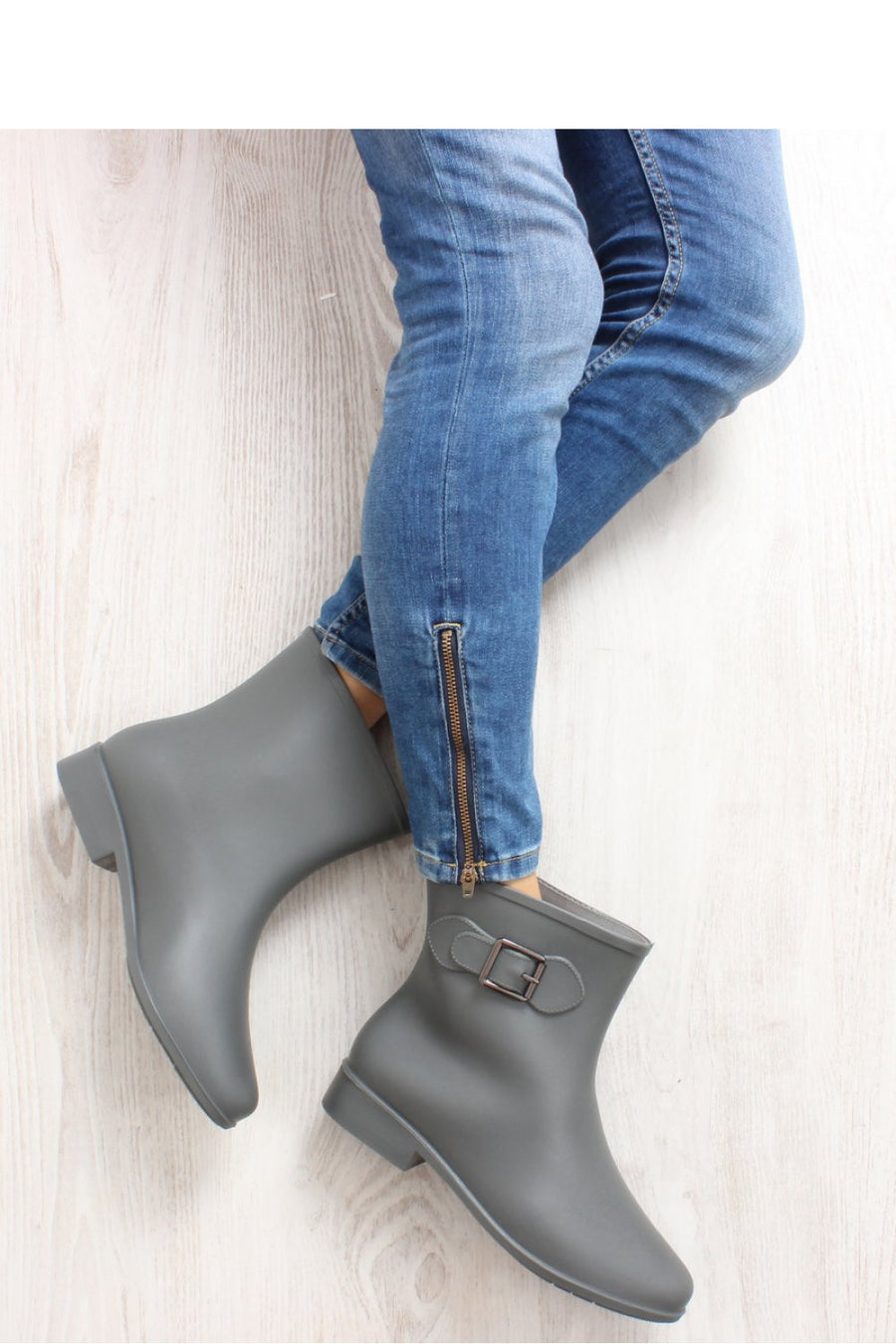 Wellingtons 74642 Inello-Women`s Ankle Boots & Booties-Inello-grey-36-Très Fancy