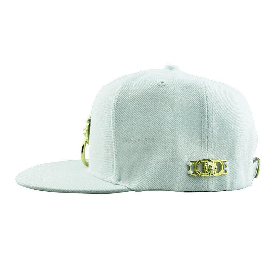White Snapback Hat, Men - Accessories - Hats, Eye Hunee, Très Fancy, , , , , d1da1f61#1, [fashion_accessories_online_shopping_canada]
