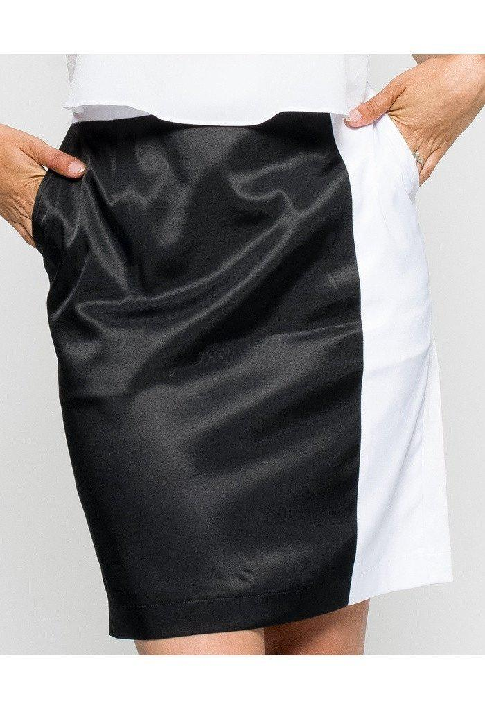 Women's Black & White Skirt