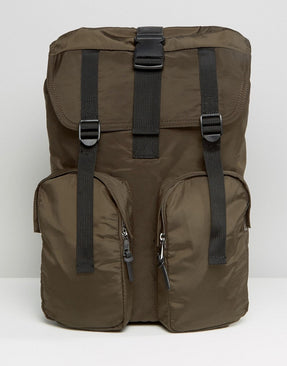 New Look Backpack In Dark Khaki