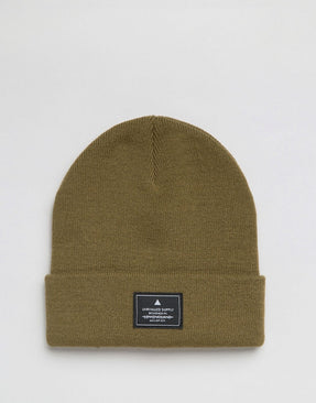 Patch Beanie In Olive