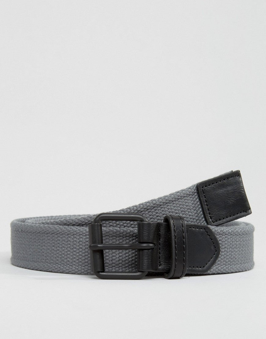Woven Belt With Black Coated Buckle