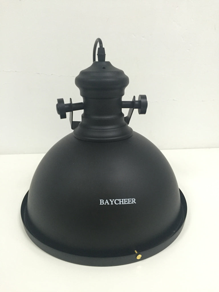 BAYCHEER Industrial Style 12'' Wide Black Pendant Light with Diffuser - HL371268