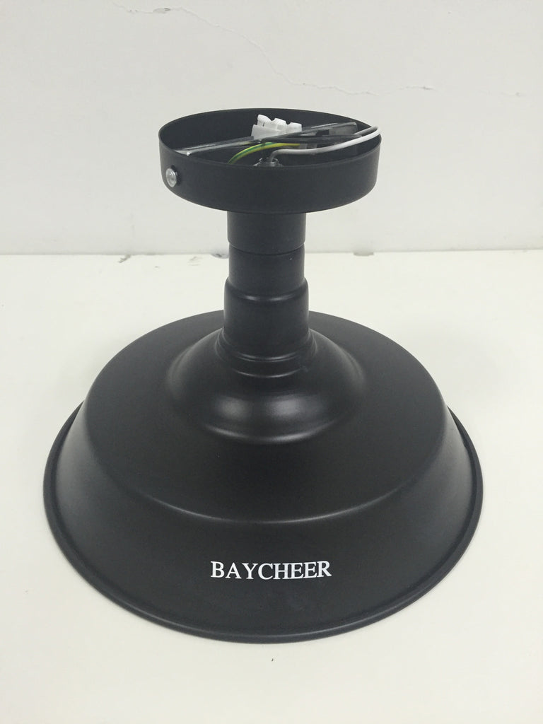 BAYCHEER 1 Light Semi-Flush Ceiling Fixture in Black - HL371812