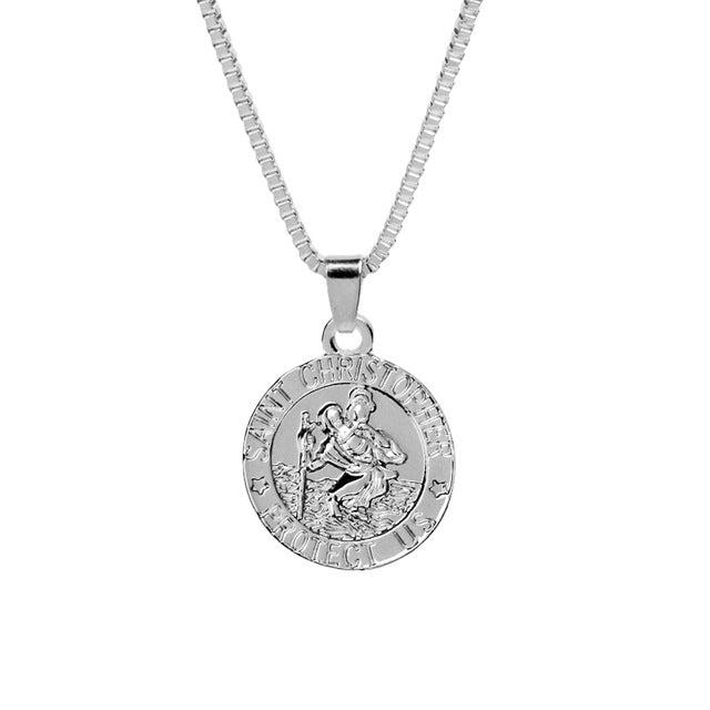 St christopher silver pendant necklace grabatie uk christian st christopher silver pendant necklace mozeypictures Choice Image