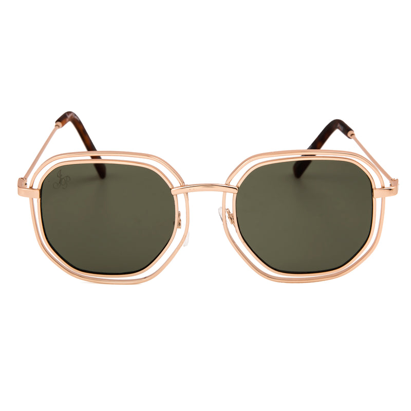 SQUARE GOLD METAL FRAME - JP18428
