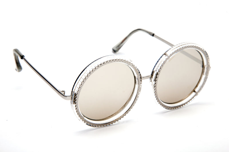 ROUND SILVER FRAME WITH MIRROR LENSES - JP18453
