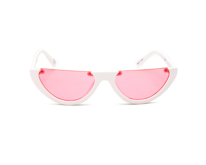 WHITE FRAME WITH PINK LENS - JP18474