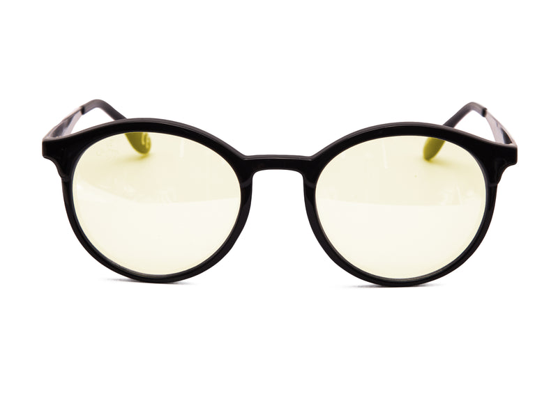 ROUND BLACK FRAME WITH BLUE LIGHT LENSES - JP18558