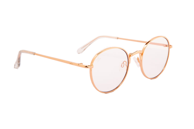 ROUND IN ROSE GOLD WITH BLUE LIGHT LENSES - JP18566