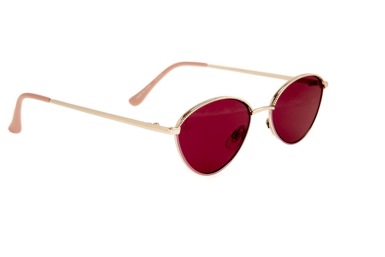 SLIM OVAL FRAMES WITH RED LENSES - JP18718