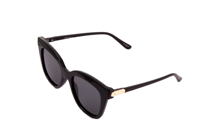 BLACK CAT EYE STYLE WITH GOLD DETAILING - JP18729