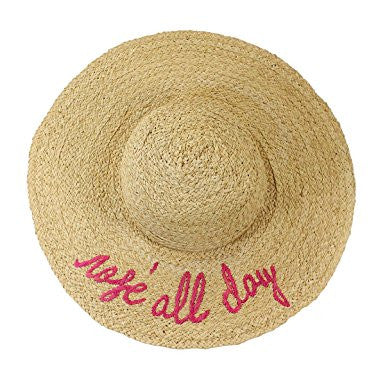 hat attack-what's your motto sunhat - rosé all day-mercer & winnie