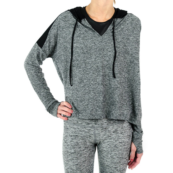 cut and run cropped hoodie