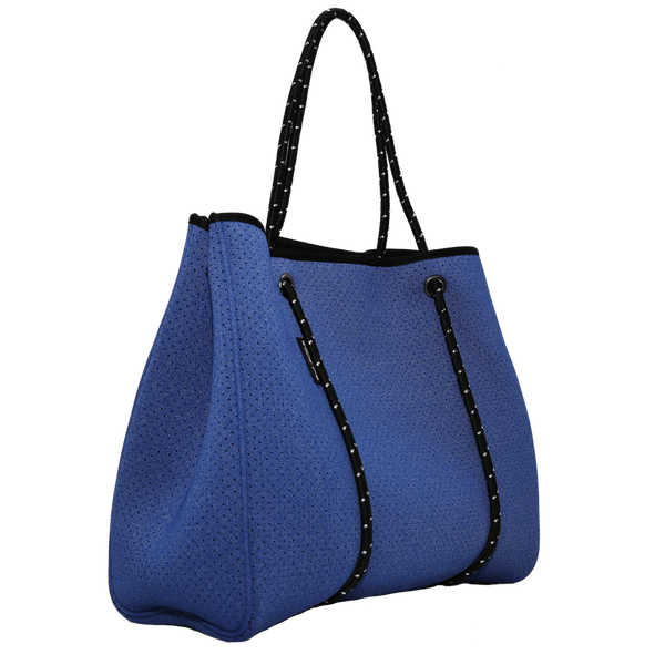 neoprene tote bag - blue denim