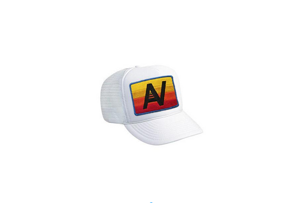 aviator nation-logo rainbow vintage trucker hat-mercer & winnie