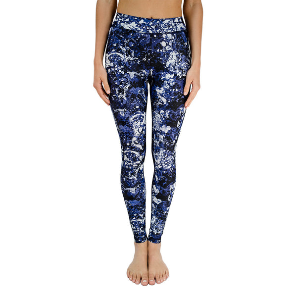 hpe-soho seamless legging - blue graffiti-mercer & winnie