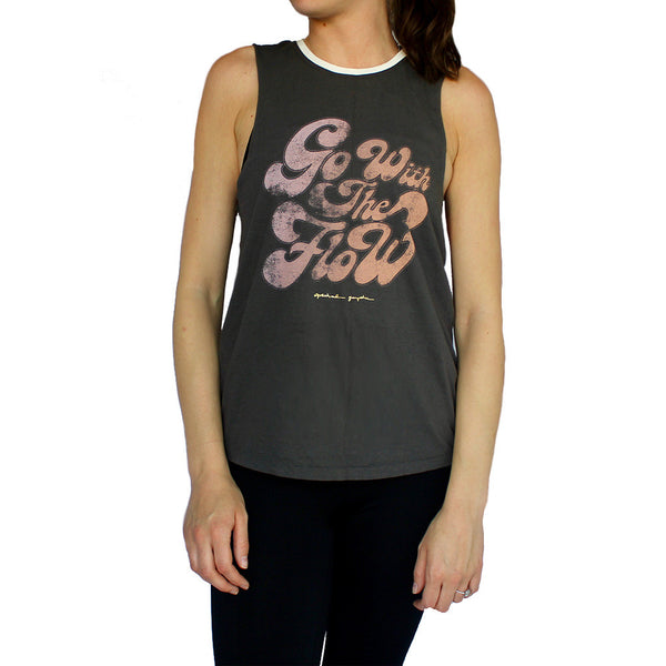 spiritual gangster-go with the flow rocker tank-mercer & winnie