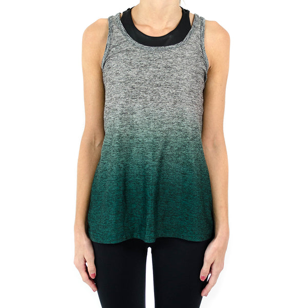 travel lightweight ombre racerback tank