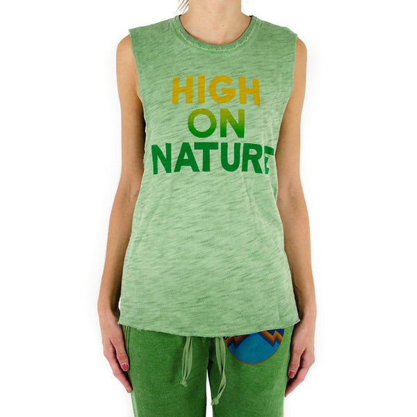 high on nature muscle tee - vintage kelly