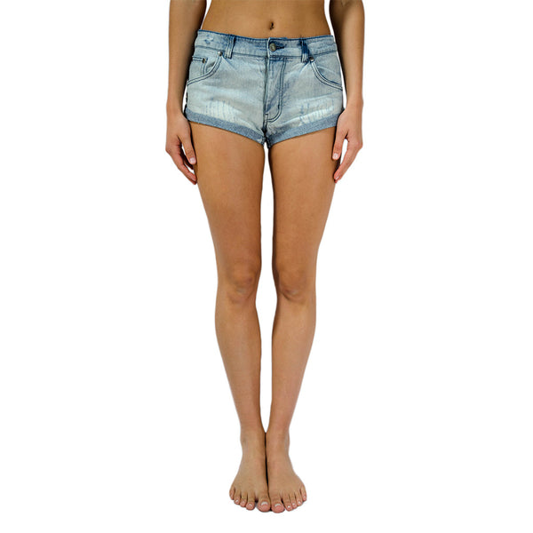 spiritual gangster-aloha vibes denim short-mercer & winnie