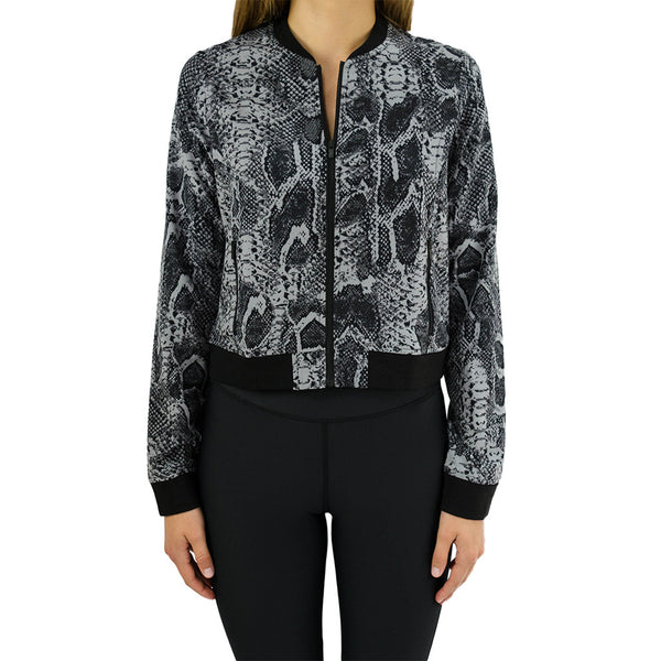 hpe-bomber jacket - black snake-mercer & winnie