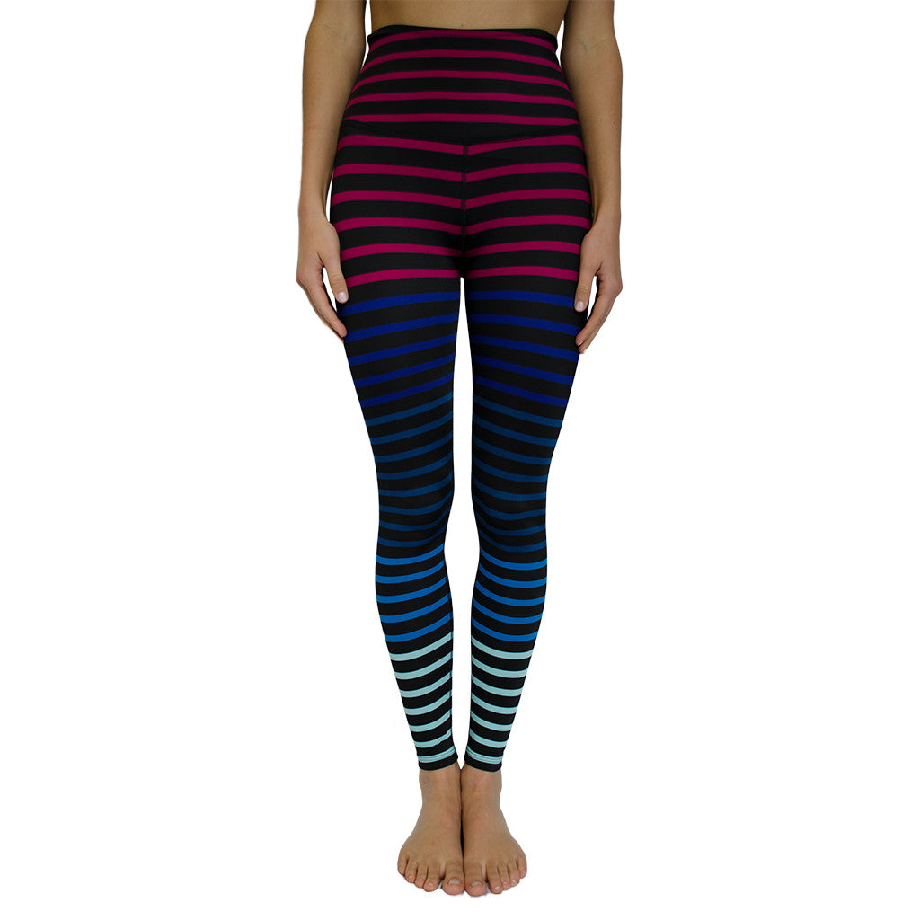 beyond yoga-high waist striped jolie legging-mercer & winnie