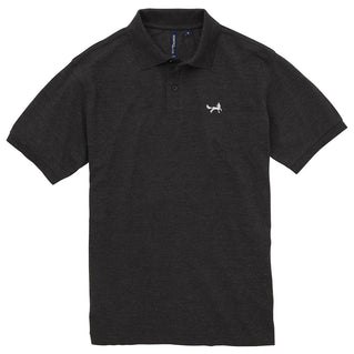 Asquith & Fox Men's Classic Piqué Polo Shirt In Black Heather