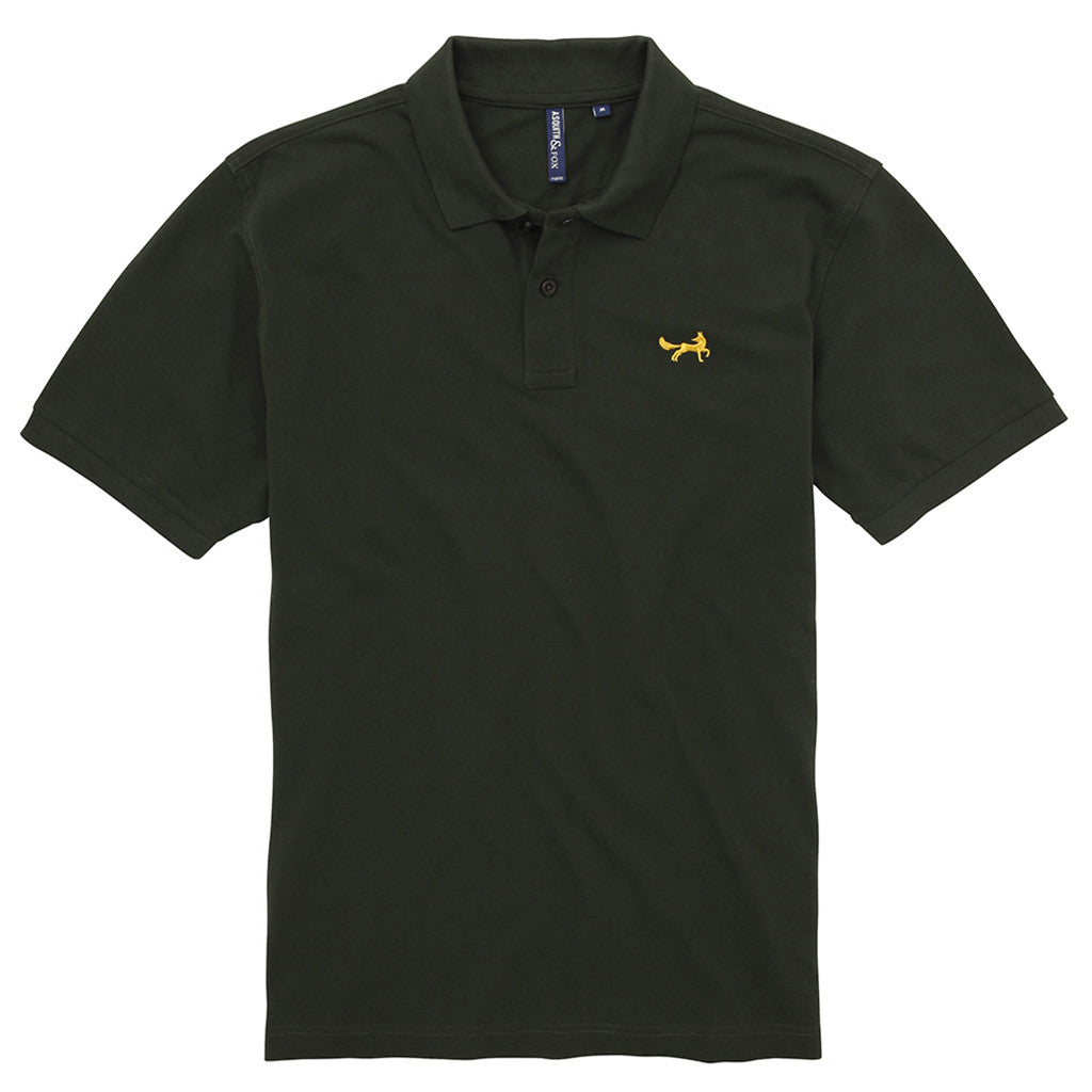 Asquith & Fox Men's Classic Piqué Polo Shirt In Bottle