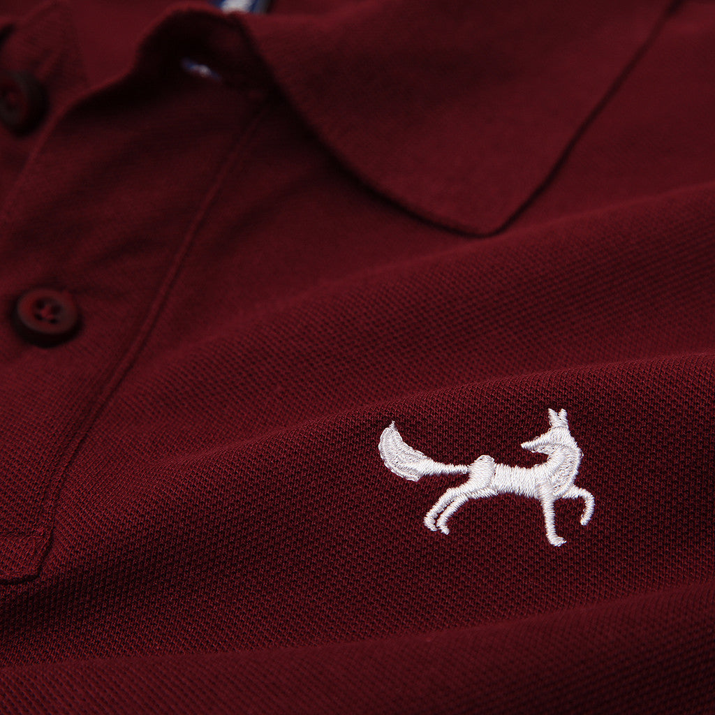 Asquith & Fox Men's Classic Piqué Polo Shirt In Burgundy
