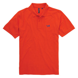 Men's Classic Piqué Polo Shirt In Burnt Orange