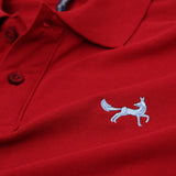 Asquith & Fox Men's Classic Piqué Polo Shirt In Cardinal Red
