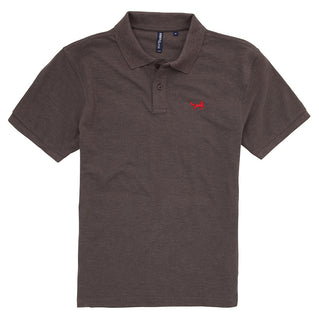 Asquith & Fox Men's Classic Piqué Polo Shirt In Charcoal